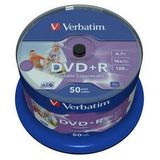 DVD+R 4.7GB 16x No ID brand Wide Inkjet Printable spindle 50 buc