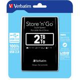 Verbatim HDD Store and Go 2,5  2TB USB 3.0 BLACK