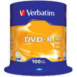 Verbatim  DVD-R 16X 100 PK SPINDLE 4.7GB