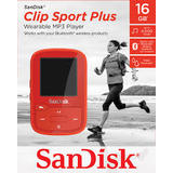 Mp3 Player Sandisk MP3 16GB CLIP SPORT PLUS - red
