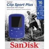Mp3 Player Sandisk MP3 16GB CLIP SPORT PLUS  - blue