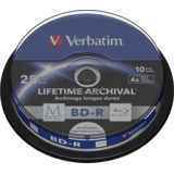 BluRay M-DISC BD-R Verbatim [ Spindle 10 | 25GB | 4x | Inkjet Printable ]