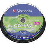 CD-RW Verbatim, 12x, 700 MB, 10 bucati/spindle