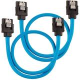 Premium Sleeved SATA 6Gbps 30cm Cable — Blue