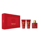 Set , Eros Flame, Barbati: Apa de Parfum, 50 ml + After Shave Balsam, 50 ml +Gel de dus, 50 ml