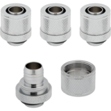 "Modding Corsair Hydro X Series XF Compression 10/13mm (3/8 / 1/2"") ID/OD Fitting Four Pack - Chrome"""