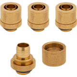 "Modding Corsair Hydro X Series XF Compression 10/13mm (3/8 / 1/2"") ID/OD Fitting Four Pack - Gold"""