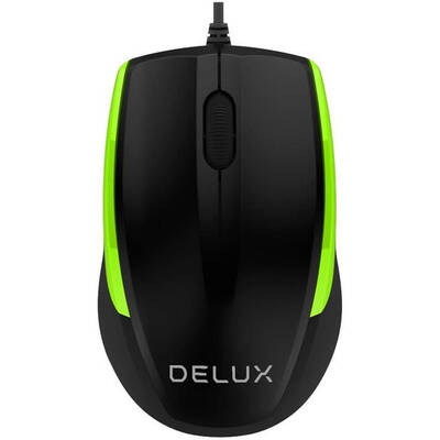 Mouse Delux M321 Black/Green