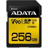 Card de Memorie A-Data 256GB Premier ONE SDXC UHS-II U3 Class 10, R/W up to 275/155 MB/s