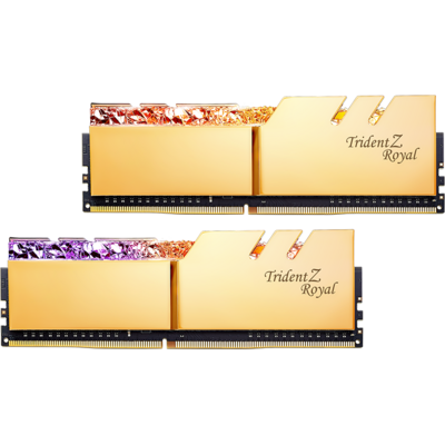 Memorie RAM G.Skill Trident Z Royal RGB Gold 64GB DDR4 4000MHz CL18 1.4v Dual Channel Kit