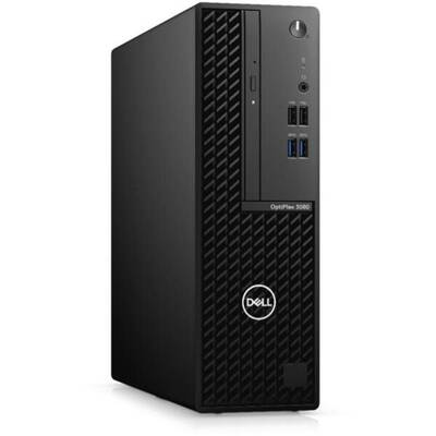 Sistem desktop Dell OptiPlex 3080 SFF, Procesor Intel Core i5-10500 3.1GHz Comet Lake, 8GB RAM, 256GB SSD, UHD 630, Windows 10 Pro